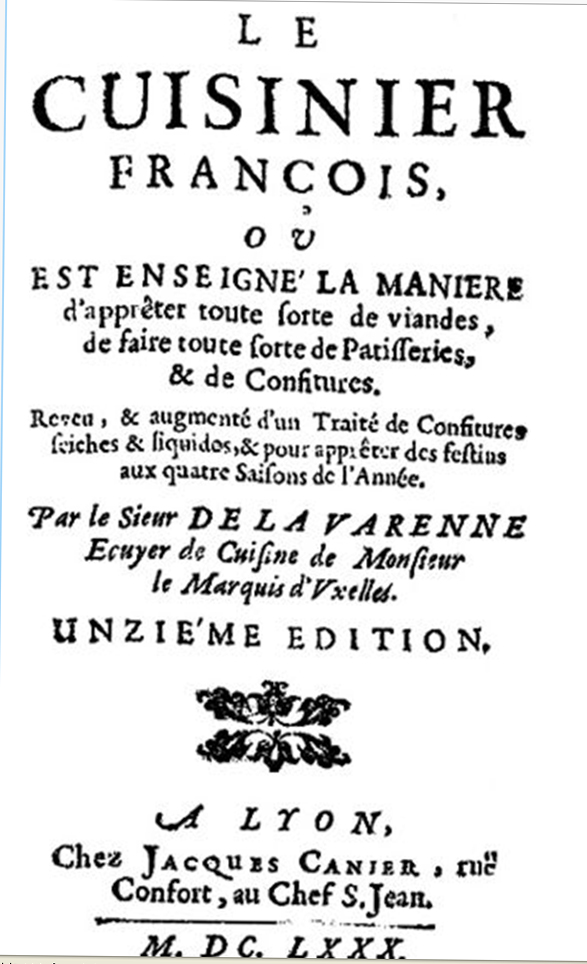 Fathers of french cuisine bicycle gourmet for 17th century french cuisine